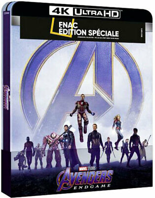 Avengers Endgame Steelbook collector édition Fnac Blu-ray +Blu-ray 4K