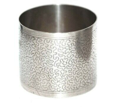 Antique Sterling Silver Napkin Ring w/Awesome Engraved Abstract Pattern! c1880