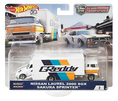 Nissan fair lady Z Sakura sprinter Hot Wheels 2019 Team transporte f 1:64 RR