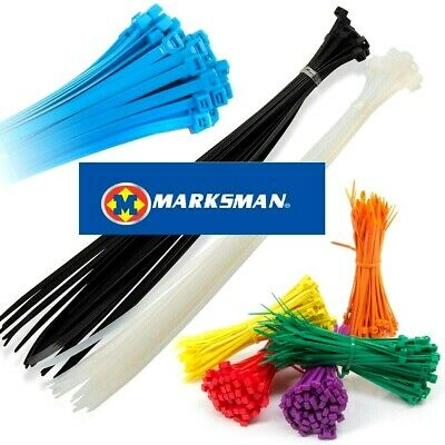 Marksman STRONG QUALITY NYLON CABLE TIES ZIP WRAPS  Small/Large Short/Long UK