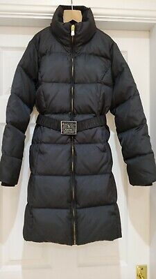 Beautiful Ralph Lauren black quilted down long winter coat size M age 8/10yrs
