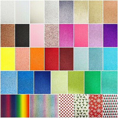 A4 Glitter Mirror Card Coloured Premium Quality Low Non Shed 250gsm Crafts