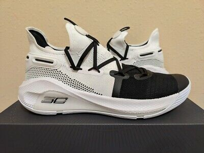 Under Armour Curry 6 Working On Excellence Junior Boys Basketball Shoes White GS