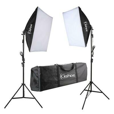 Studio Photography 2 Softbox Continuous Lighting Studio w/ 2 Adjustable Stand