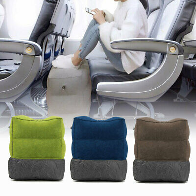 Travel Inflatable Foot Rest Portable Footrest Pillow Plane Train Relax Cushion