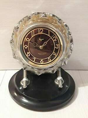 Soviet table clock Lighthouse. USSR Vintage