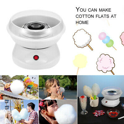Home Electric Cotton Candy Maker Machine Sugar Floss Mini 110v White Party US
