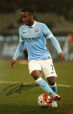 Raheem Sterling ~ Manchester City ~ SIGNED PHOTO 12X8 WITH COA