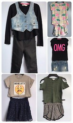 Girls Spring Summer Holiday Tops Skirts Shorts Trousers Large Bundle 8-9 9-10
