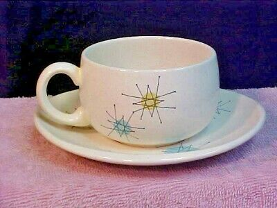 Franciscan Starburst Mid-Century Retro Atomic Coffee/Tea Cup and Saucer