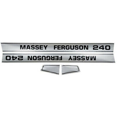 New Hood Decal Set for Massey Ferguson Tractor Model 240 MF Tractors