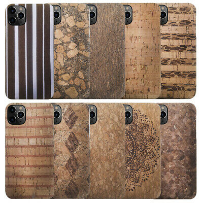 For iPhone 8 7 6 6S Plus 11 Pro Max XR XS X Natural Cork Wood Phone Case Cover