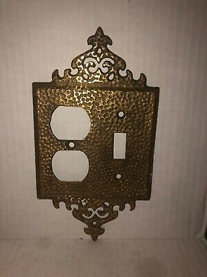 Brass Heavy Ornate 751 Victorian Outlet Switch Plate light Plate Double Wall
