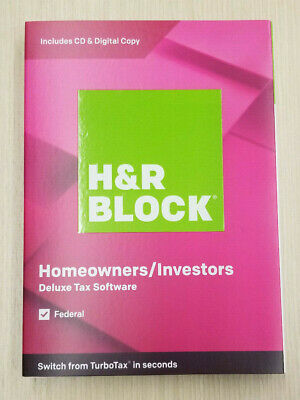 H&R BLOCK TAX SOFTWARE DELUXE 2019 (Federal) SEALED BOX. SHIPS FAST FREE 3 DAY !