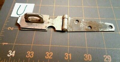 Vintage Folding Steel HINGED HASP and KEEPER HARDWARE
