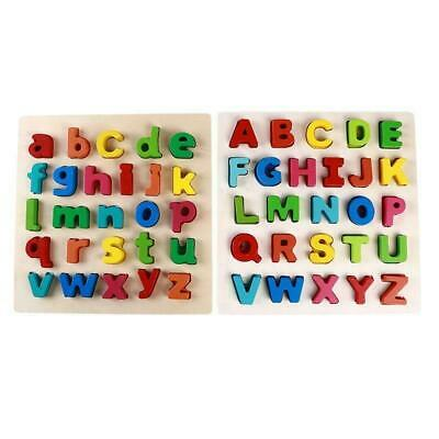 Kids Wooden Alphabet Puzzle Upper/ lowercase Alphabet Learning Educational Toy