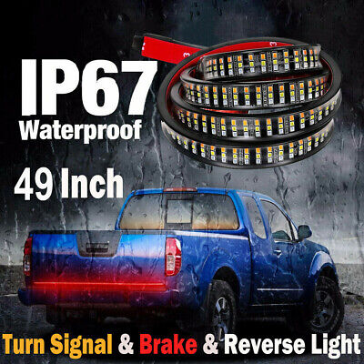 "49"" Inch Truck Tailgate LED Light Bar Brake Reverse Turn Signal Stop Tail Strip"