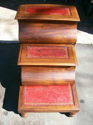 Antique Set Victorian Library / Bed Steps c.1870