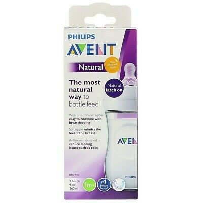 Philips Avent Natural Baby Bottle, Clear, 9oz, 1pk, SCF013/17. FREE Shipping