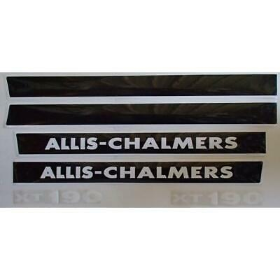 AC190XT Hood Decal Set Made To Fit Allis Chalmers Tractor Model 190XT