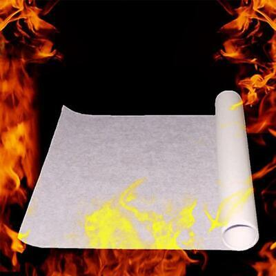 10 Sheets Magician White Fire Paper Stage Magic Tricks Accessory