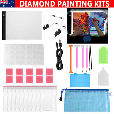 A4 LED Pad Light Board W/ USB Cable+5D Diamond Painting Tools DIY Accessories