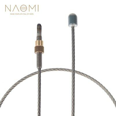 """Tail Cord for Double Bass 9//64/"""" Braided Dyneema 3.5mm diam gut wire 65cm"""