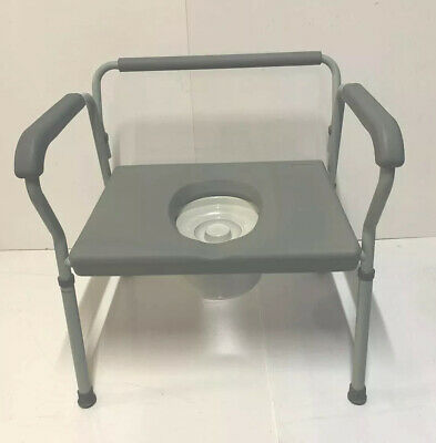 H'Duty XL Commode Toilet Chair Extra Wide Bariatric 180kg Medical Mobility NEW