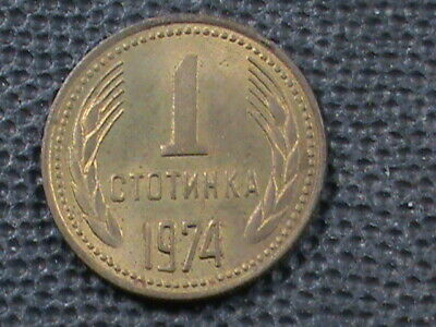BULGARIA 1 Stotinki 1974 COMBINADO .10 Centavos EE.UU. .29 INTERNATIONAL