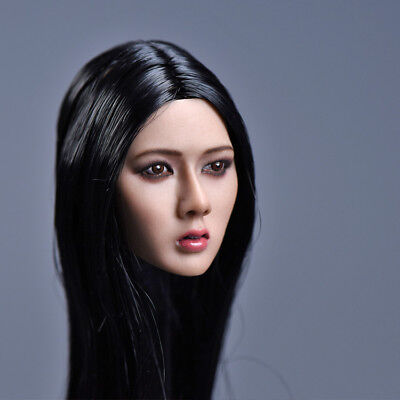 YMTOYS YMT011D 1//6 Red Long Hair Head Sculpt Carved Model Fit PHICEN Body