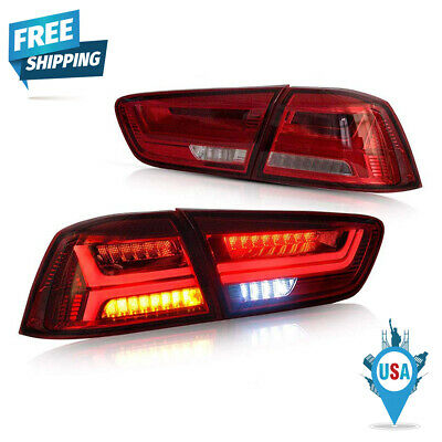 New Vland Set Of 2 LED Tail Light LH RH For Mitsubishi Lancer /EVO X 2008-2017