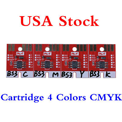 US Stock-Chip Permanent for Mimaki JV33 CJV30 BS3 Cartridge 4 Colors CMYK