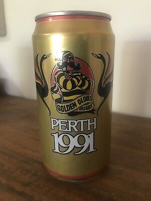 Collectable Swan Gold Lager Golden Oldies Rugby 1991 BEER CAN 375ml
