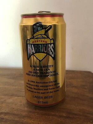 Collectable Swan Gold Lager Western Warriors 1994 BEER CAN 375ml