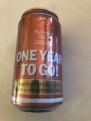 COLLECTABLE Fosters Lager One Year To Go Olympic Bronze Medal Beer Can 375ml