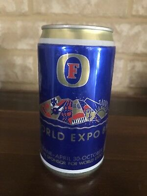 COLLECTABLE  BEER CAN, GB Fosters Lager 1988 World Expo