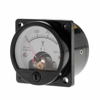 AC 0300V Round Analog Dial Panel Meter Voltmeter Gauge Pointer Type-