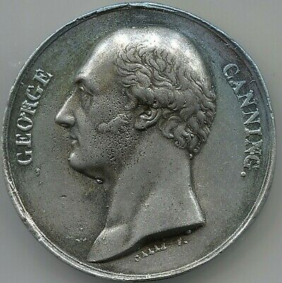 British Prime Minister George Canning - by: Galle - 49 mm - Lot EC#1550