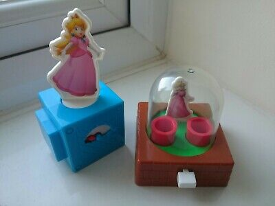 SUPER MARIO 2018 princess peach spinning game HAPPY MEAL MCDONALD UNOPENED NEW