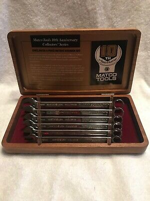 NEW Matco Tools 10th Anniversary Collector's Series Metric Wrench Set  Free Ship