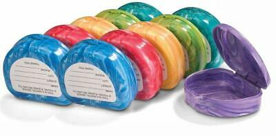 Marble Retainer Cases with Labels (12 Pack)