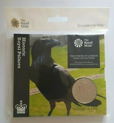 2019 Tower of London Collection Legend of the Ravens Five Pounds £5 Coin BUNC BU