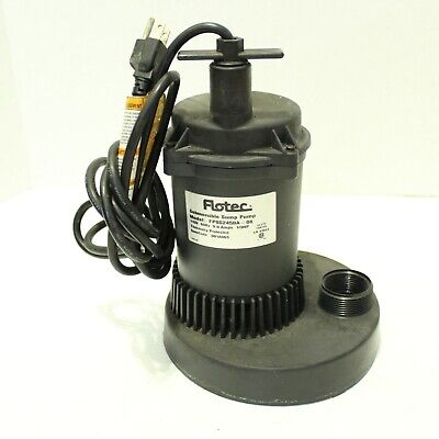 Flotec Submersible Sump Pump FPOS2450A-08 1/3HP Thermally Protected 115 VAC 9 A