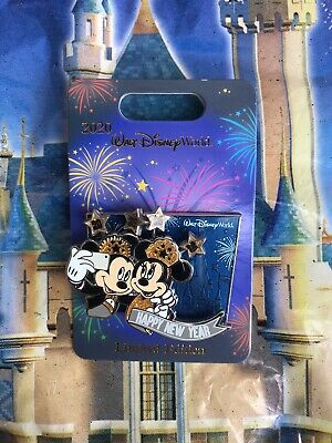 Disney Parks Happy New Year 2020 Mickey Minnie Mouse LE2500 Pin IN HAND