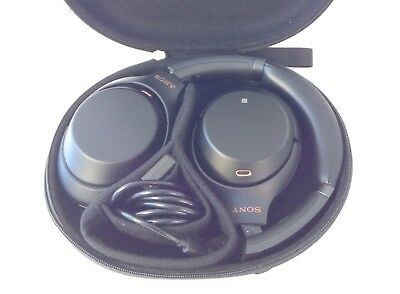 Sony WH-1000XM3 Noise Canceling Headphones Over-Ear WH1000XM3 w/ Case + Cable