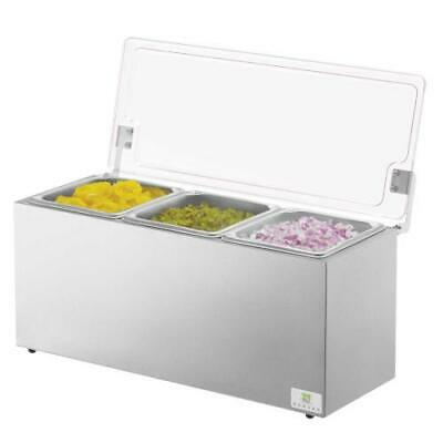 Server - 67780 - Insulated Drop-In 2-Pan Relish Server