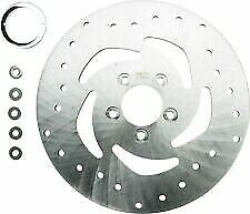 HardDrive Drilled Vented Rear Rotor Stainless Steel for Harley 144312