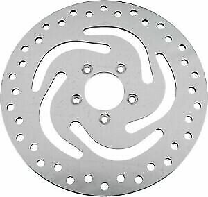 HardDrive Drilled Vented Front Right Rotor Stainless Steel for Harley 144313