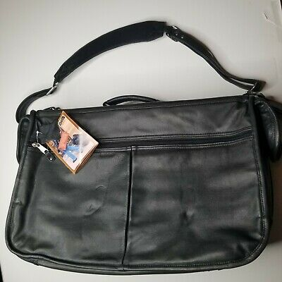 CANYON OUTBACK LEATHER GOODS CO LEATHER GARMENT BAG Black New With Tags #D36003