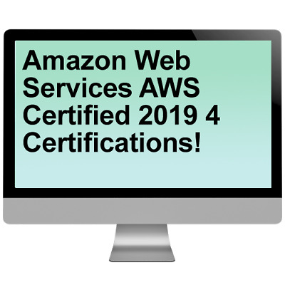 Amazon Web Services AWS Certified 2019 4 Certifications! Video Training